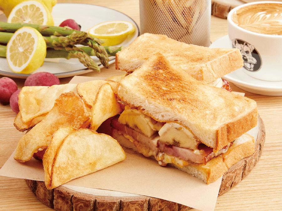 貓王三明治.瑪滋卡邦.切片薄薯