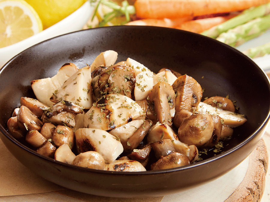 牛肝箘什錦炒菇